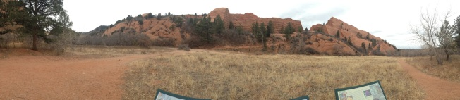 This crazy rock formation was right outside town, and there were great running trails all around it.